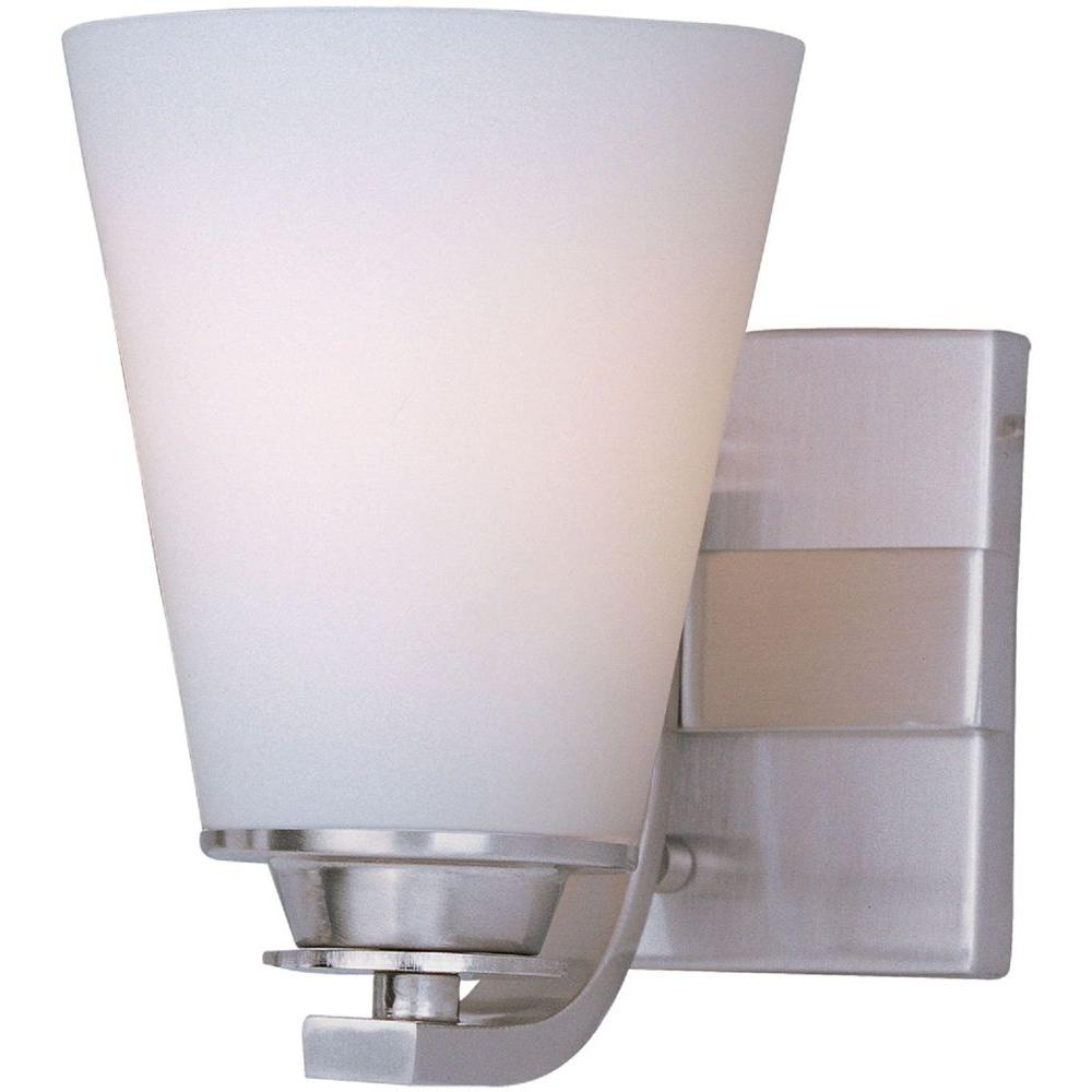 Conical 1-Light Satin Nickel Bath Vanity Light