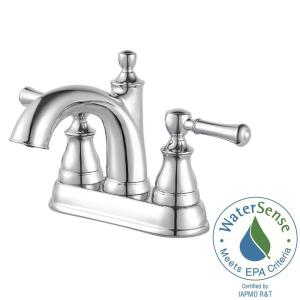 centerset single handle bathroom faucet in polished chrome