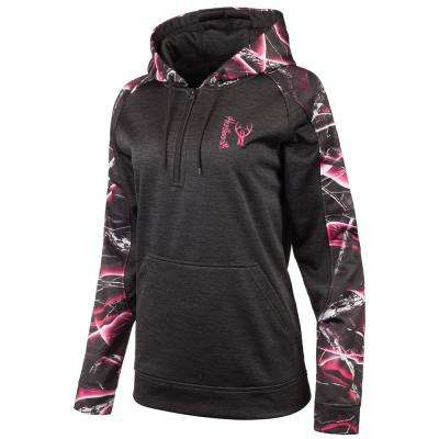 HUNTWORTH Women's Small Heather Black / Moxie Hooded Pullover