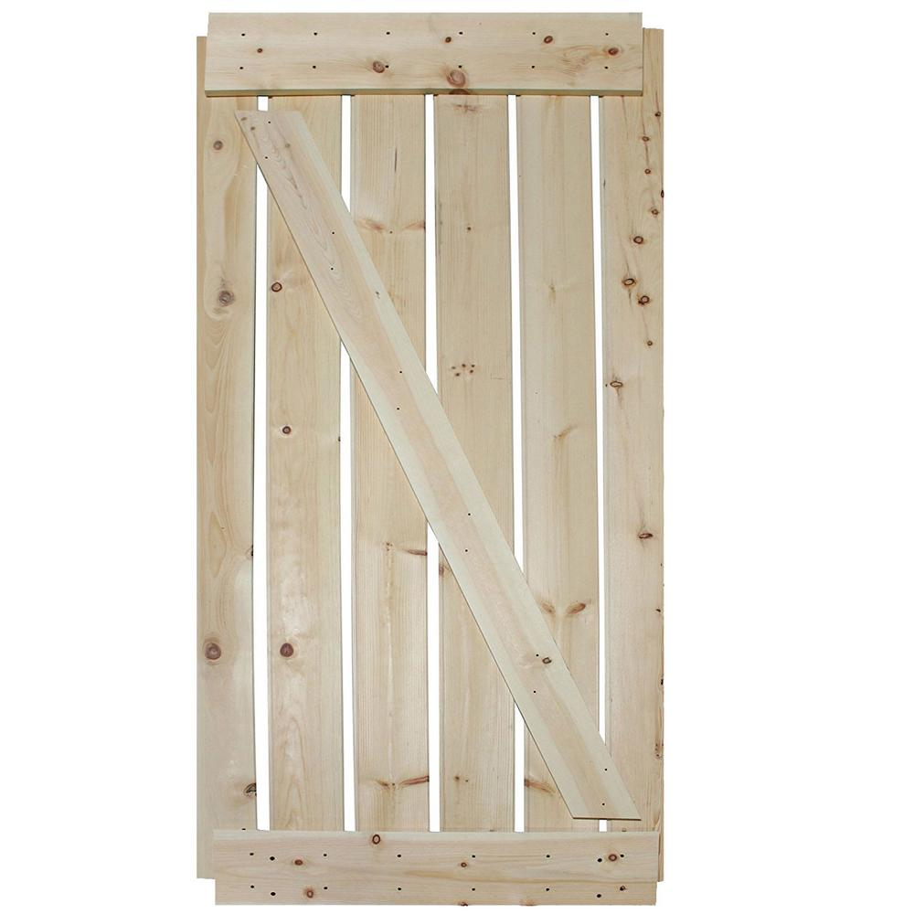 Knotty Pine Cabinet Doors: CALHOME 36 In. X 84 In. Unfinished Knotty Pine Wooden Door