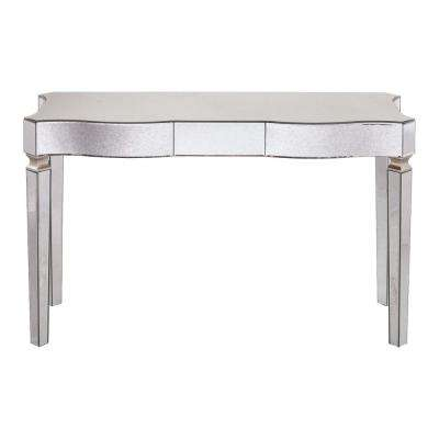 Carlyn Silver Glam Mirrored Console Table