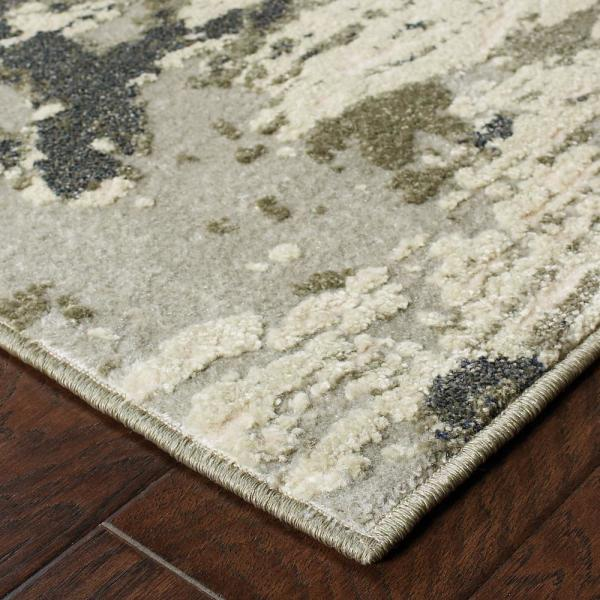 Raelynn Grey Ivory 6 Ft X 9 Ft Abstract Area Rug 995221 The Home Depot