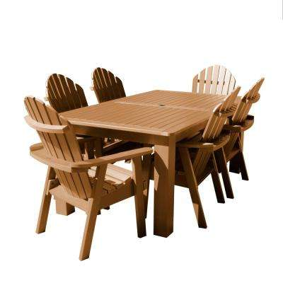 Hamilton Toffee 7-Piece Recycled Plastic Rectangular Outdoor Dining Set
