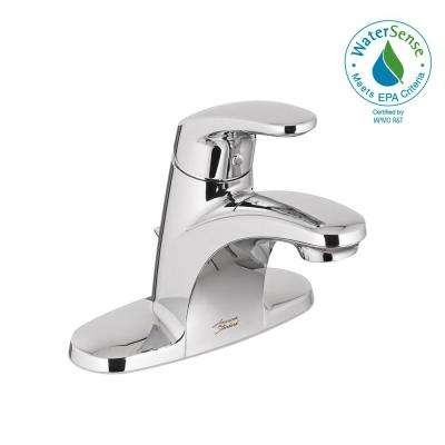 Colony Pro 4 in. Centerset Single-Handle Low-Arc Bathroom Faucet with Grid Drain in Polished Chrome