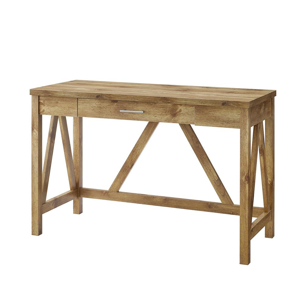 Walker Edison Furniture Company 46 In Barnwood Rustic Farmhouse A Frame Computer Writing Desk