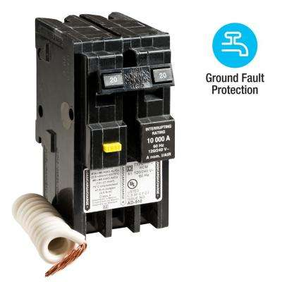 Homeline 20 Amp 2-Pole GFCI Circuit Breaker