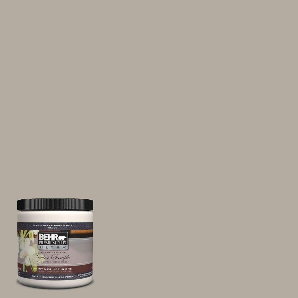 BEHR Premium Plus Ultra 8 oz. #UL260-8 Perfect Taupe Interior/Exterior Paint Sample