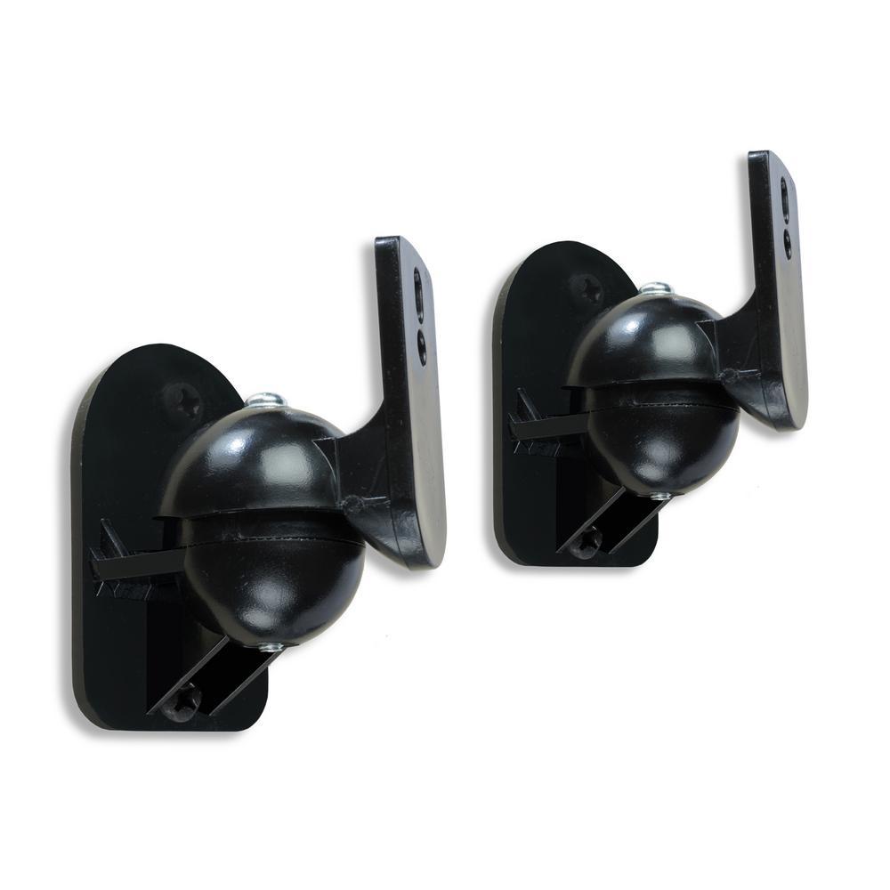 Atlantic Speaker Wall Mount Brackets in Black (Set of 2)