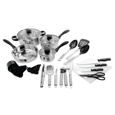 Total Kitchen 30-Piece Cookware Combo Set