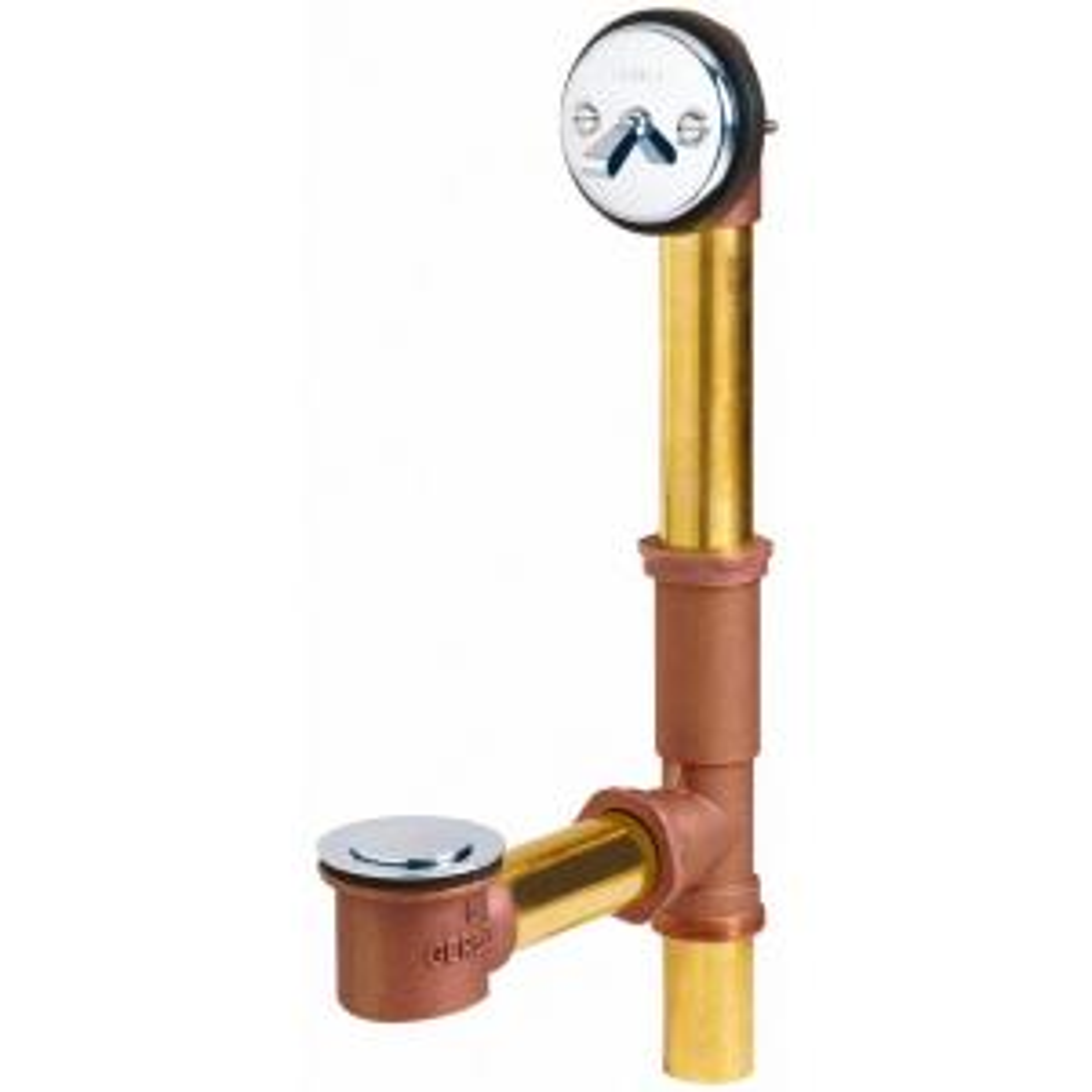 Gerber Classics 20 Gauge Brass Pop-up Bath Drain in Chrome by Gerber