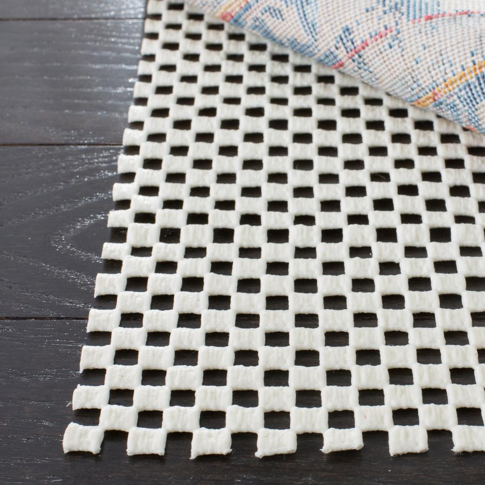 Grid White 2 ft. x 14 ft. Non-Slip Rug Runner Rug