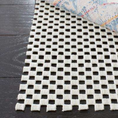 Grid White 4 ft. x 6 ft. Non-Slip Rug Pad