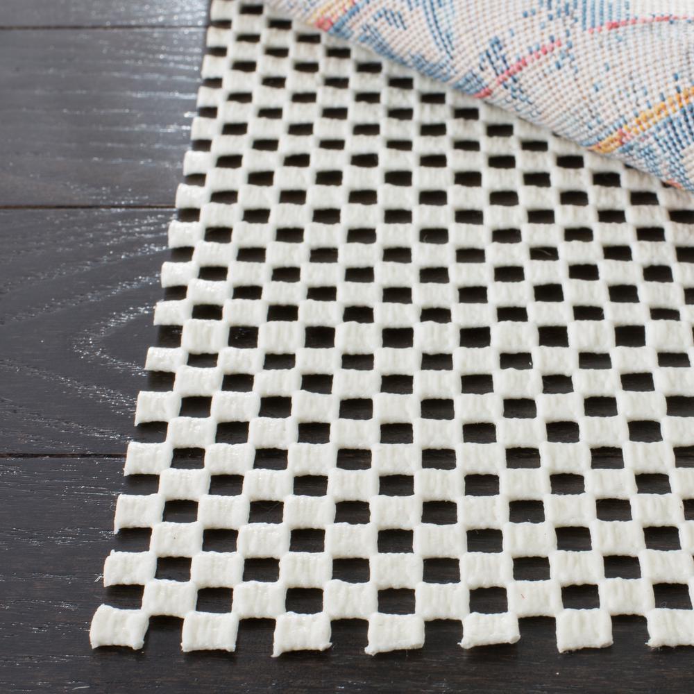 Grid White 2 ft. x 10 ft. Non-Slip Rug Runner Rug Pad