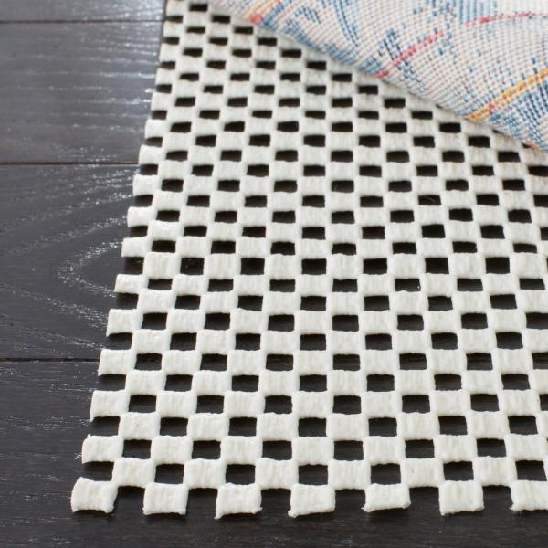 Grid White 3 ft. x 5 ft. Non-Slip Rug Pad
