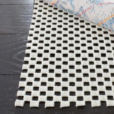 Grid White 8 ft. x 8 ft. Non-Slip Rug Pad