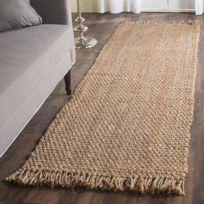 Natural Fiber Beige 3 ft. x 10 ft. Runner Rug