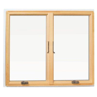 48 in. x 48 in. 400 Series Casement Wood Window with White Exterior