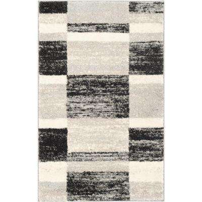 Retro Black/Light Gray 3 ft. x 5 ft. Area Rug