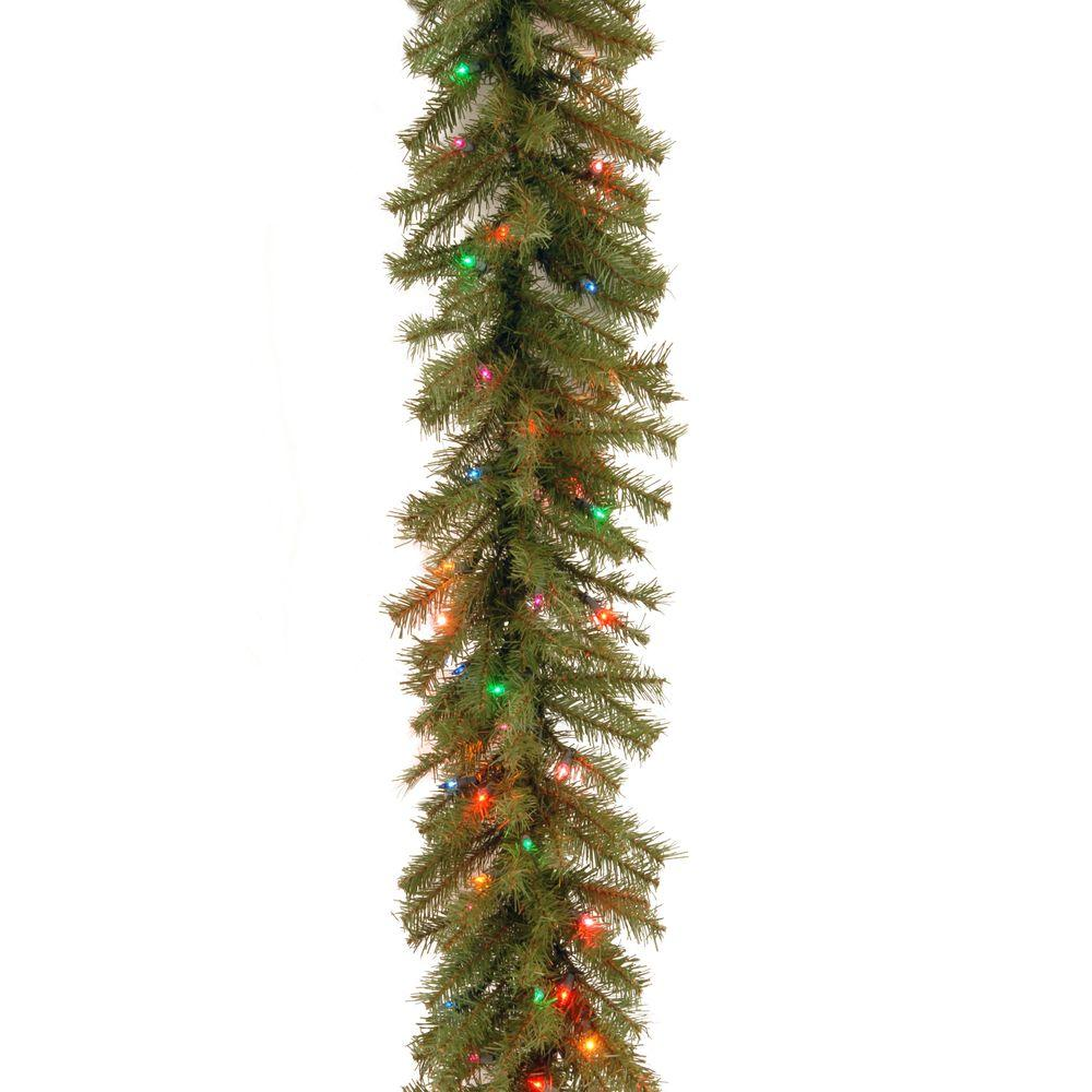 norwood fir artificial garland with 100 multi color lights