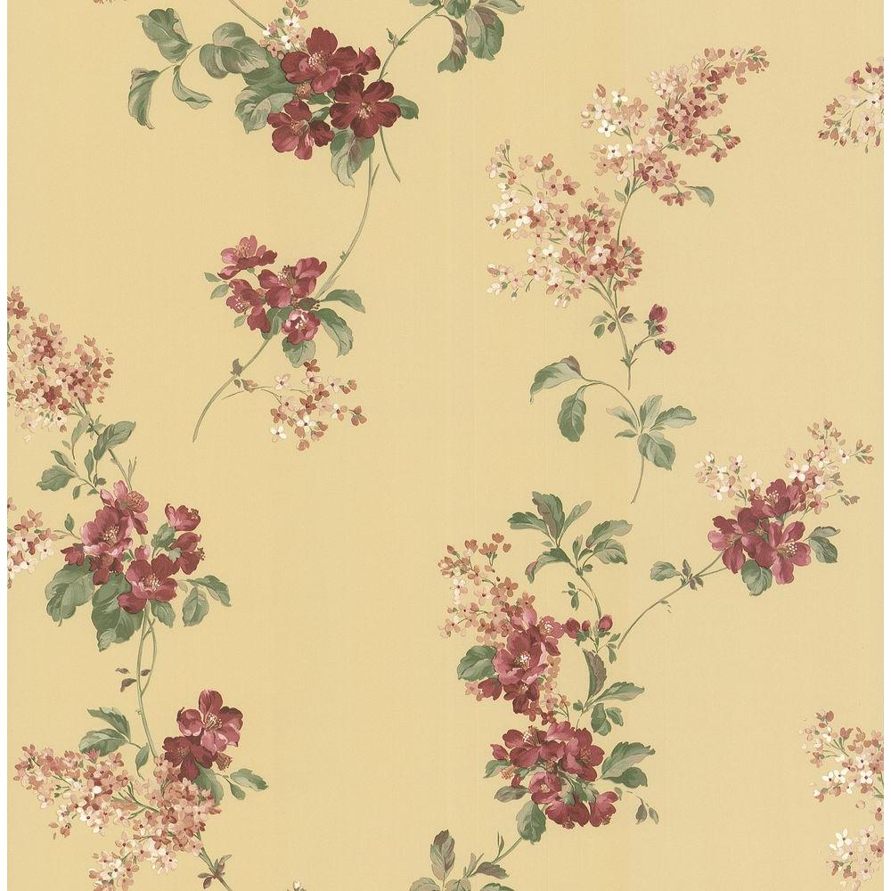 Brewster Floral Trail Wallpaper