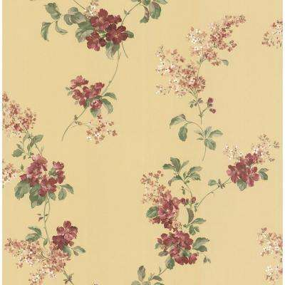 Madison Yellow Floral Trail Wallpaper Sample