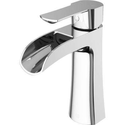Paloma Single Hole Single-Handle Bathroom Faucet in Chrome