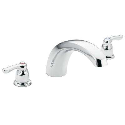 Chateau 2-Handle Low Arc Roman Tub Faucet Trim in Chrome (Valve Sold Separately)