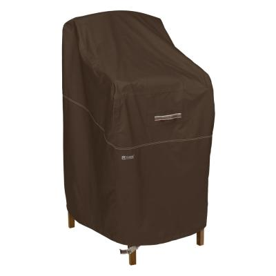 Madrona RainProof 28 in. L x 26 in. W x 48 in. H in Dark Cocoa Bar Height Chair Cover