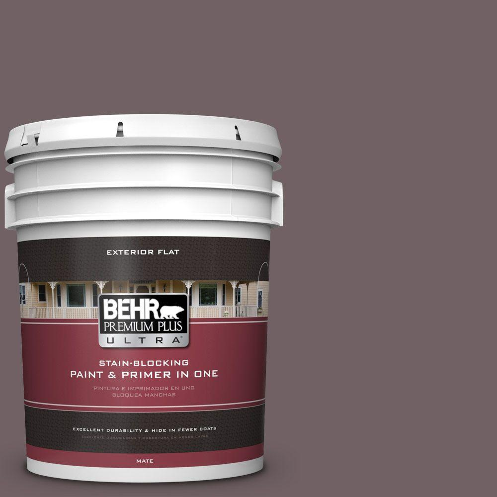 BEHR Premium Plus Ultra 5-gal. #N110-6 Dignified Purple Flat Exterior Paint