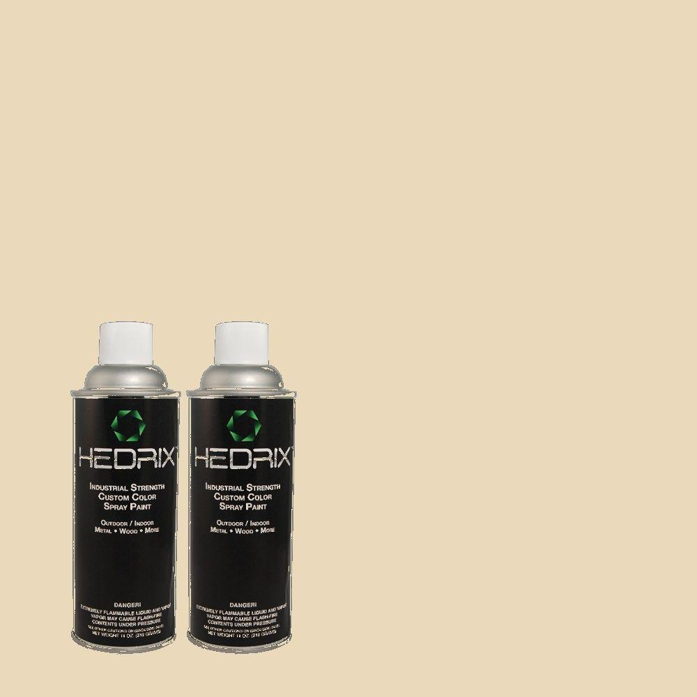 Hedrix 11 oz. Match of 1428 Bone White Gloss Custom Spray Paint (2-Pack)