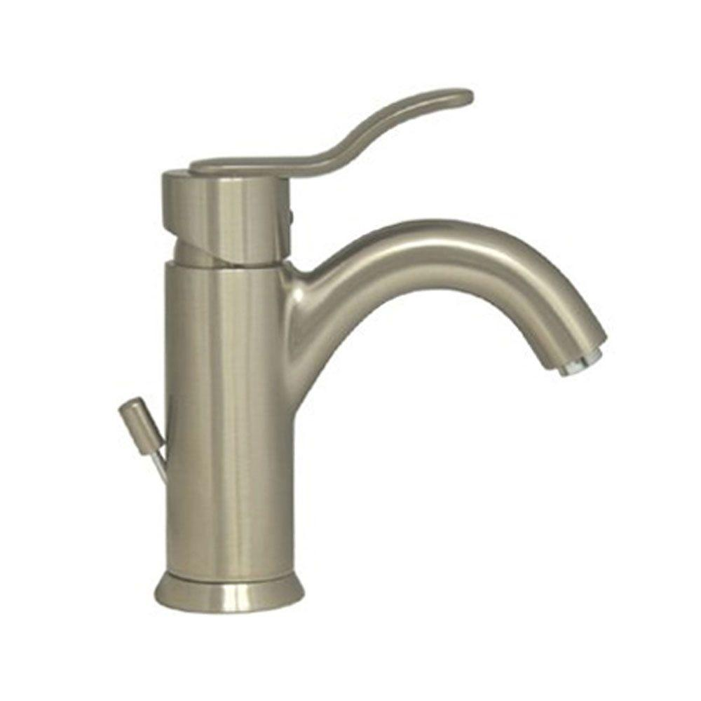 Whitehaus Collection Single Hole 1 Handle Bathroom Faucet In Brushed Nickel 3 04012bn Bn The