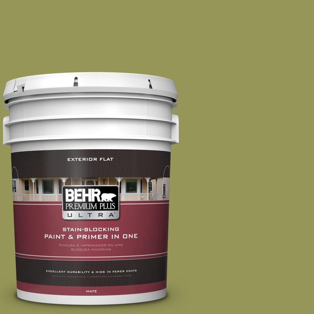 5-gal. #400D-6 Grape Leaves Flat Exterior Paint
