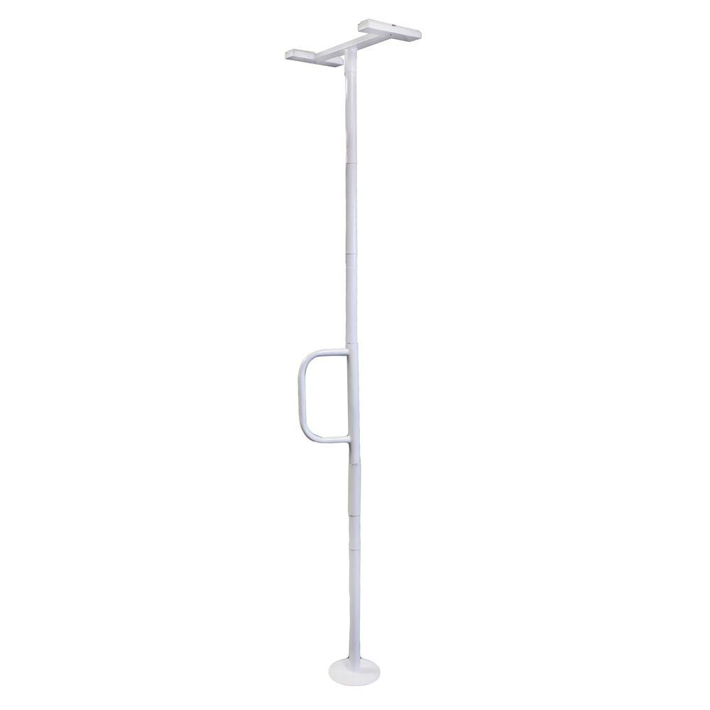 Able Life 108 in. x 1.5 in. Universal Floor to Ceiling Grab Bar in Glossy White