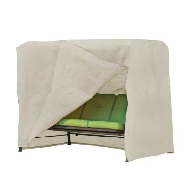 Basics Water Resistant Outdoor Patio Swing Cover, 87 in. W x 64 in. D x 66 in. H, Beige