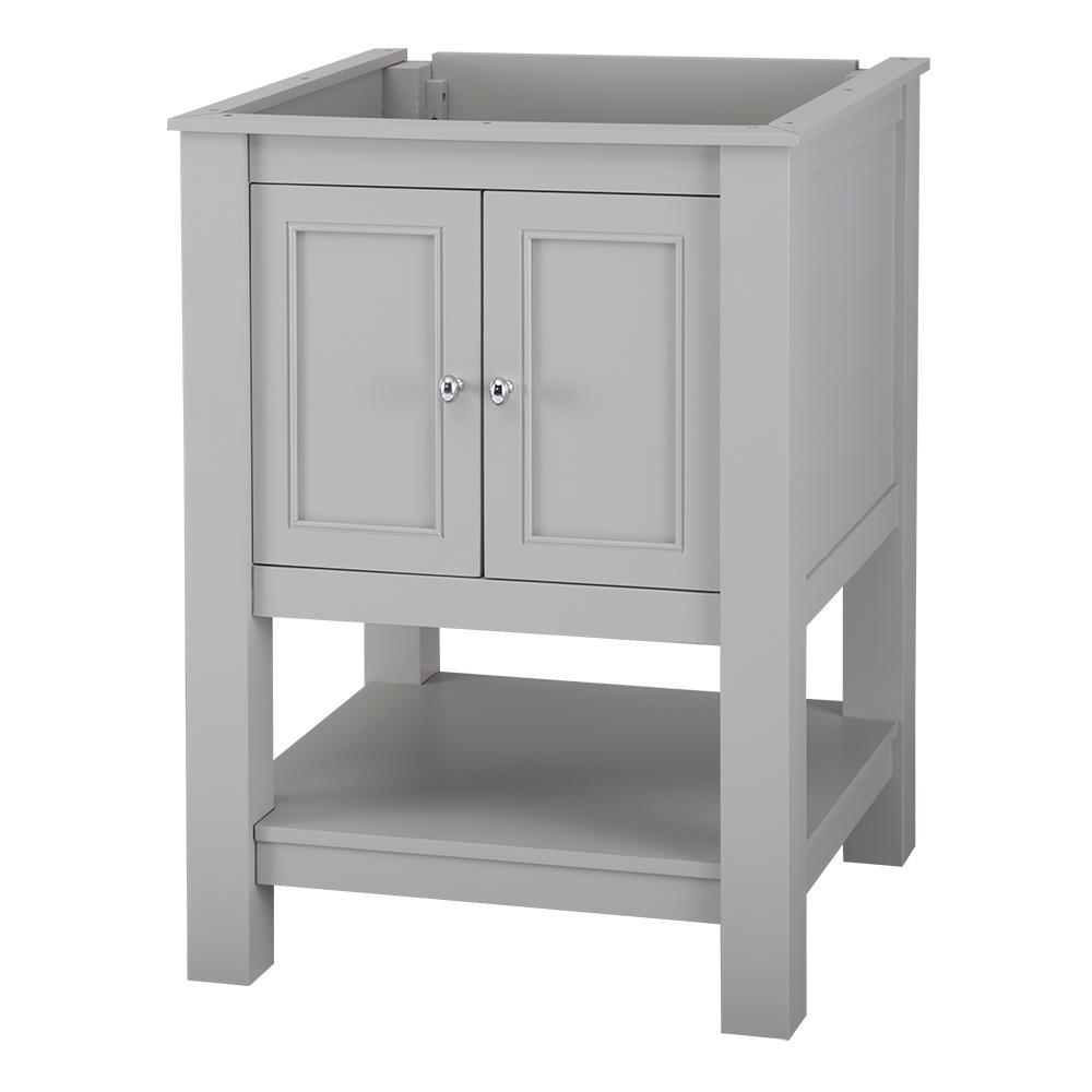 Gazette 24 in. W x 18 in. D Bath Vanity Cabinet Only in Grey
