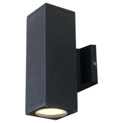 Kathy 2-Light Matte Black Outdoor Wall Mount Sconce