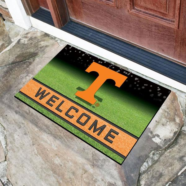 Fanmats University Of Tennessee 18 In X 30 In Rubber Door Mat 19993 The Home Depot