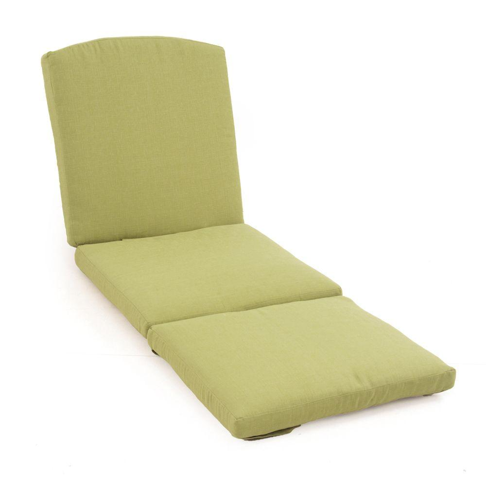 Martha Stewart Living Charlottetown Green Bean Replacement Outdoor Chaise Cushion  sc 1 st  Home Depot : replacement chaise cushions - Sectionals, Sofas & Couches