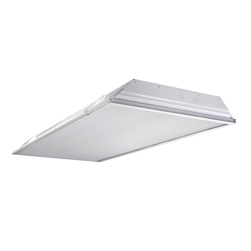Metalux 4 Light 2 Ft X 4 Ft White Fluorescent Lensed Troffer 2gr8432l35w218g The Home Depot