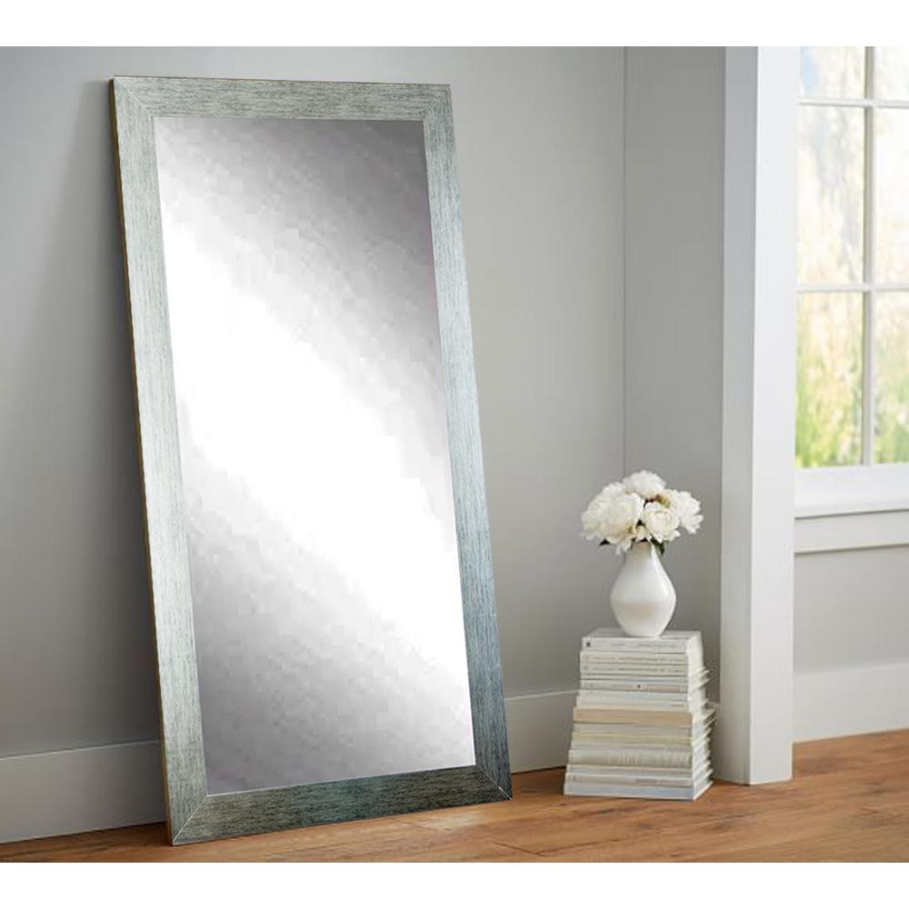 Silver shade tall floor wall mirror av4tall the home depot for Floor wall mirror