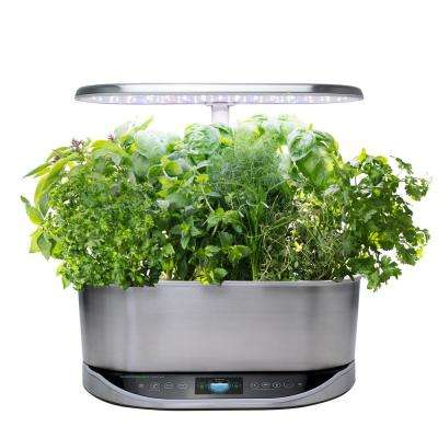 Bounty Elite Stainless Steel - In Home Garden with Gourmet Herb Seed Pod Kit (Alexa Enabled)