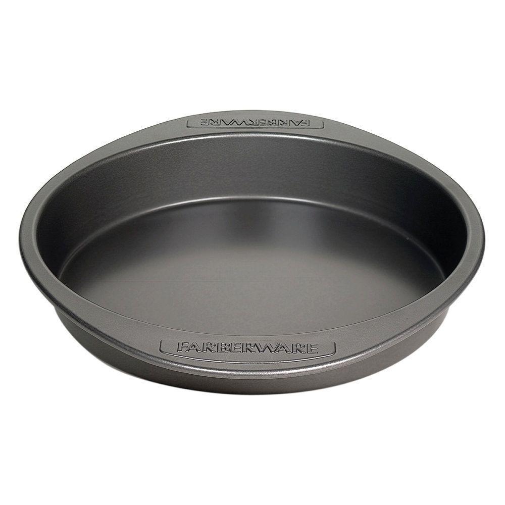 Click here to buy Farberware Steel Round Cake Pan by Farberware.