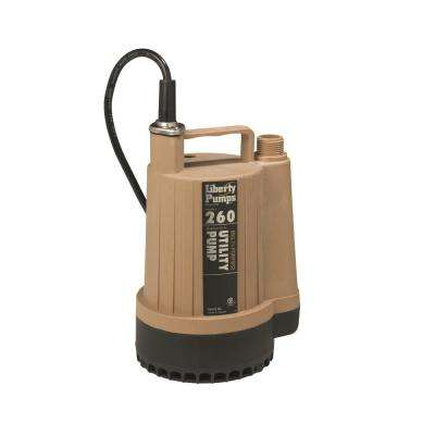 260-Series 1/6 HP Submersible Utility Pump with 25 ft. Cord