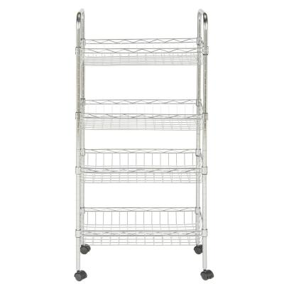 Chrome 4-Tier Carbon Steel Wire Shelving Unit (18 in. W x 37 in. H x 10 in. D)