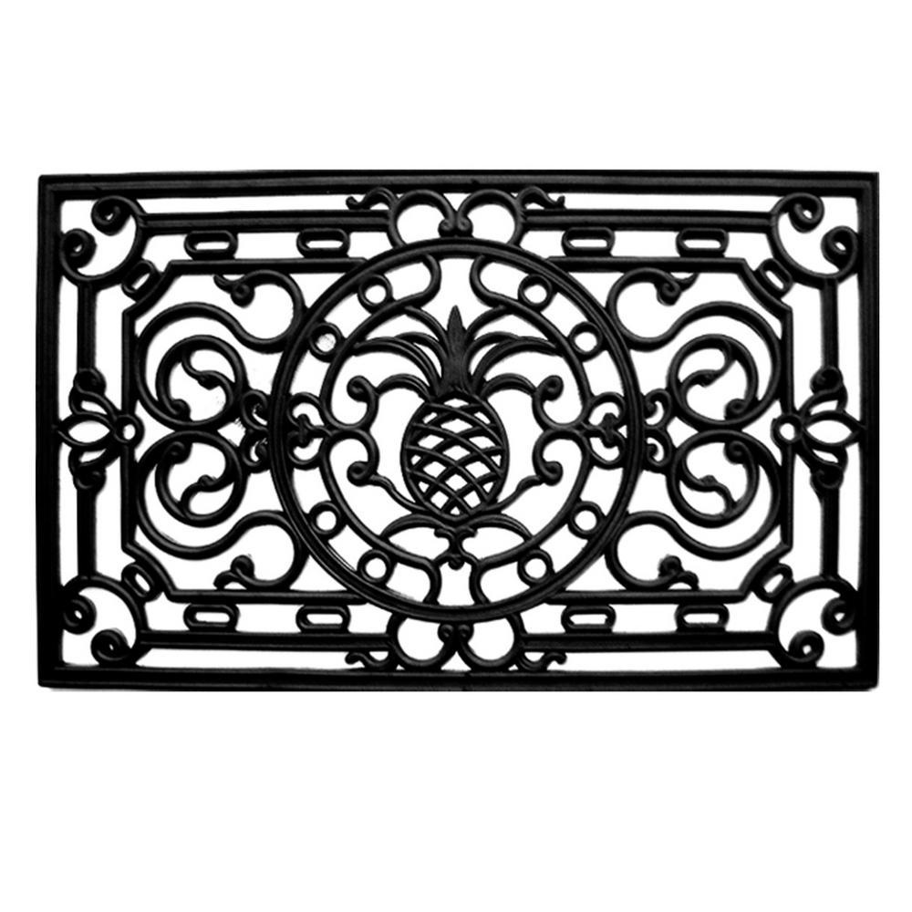 Pineapple Heritage Rubber Doormat 18 in. x 30 in.