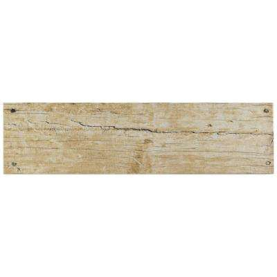 Cottage Beige 5-7/8 in. x 23-5/8 in. Ceramic Floor and Wall Tile (12.2 sq. ft. / case)