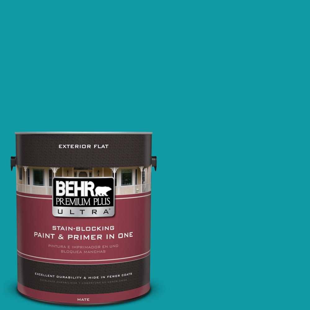 1 gal. #MQ4-20 Island Dream Flat Exterior Paint and Primer in
