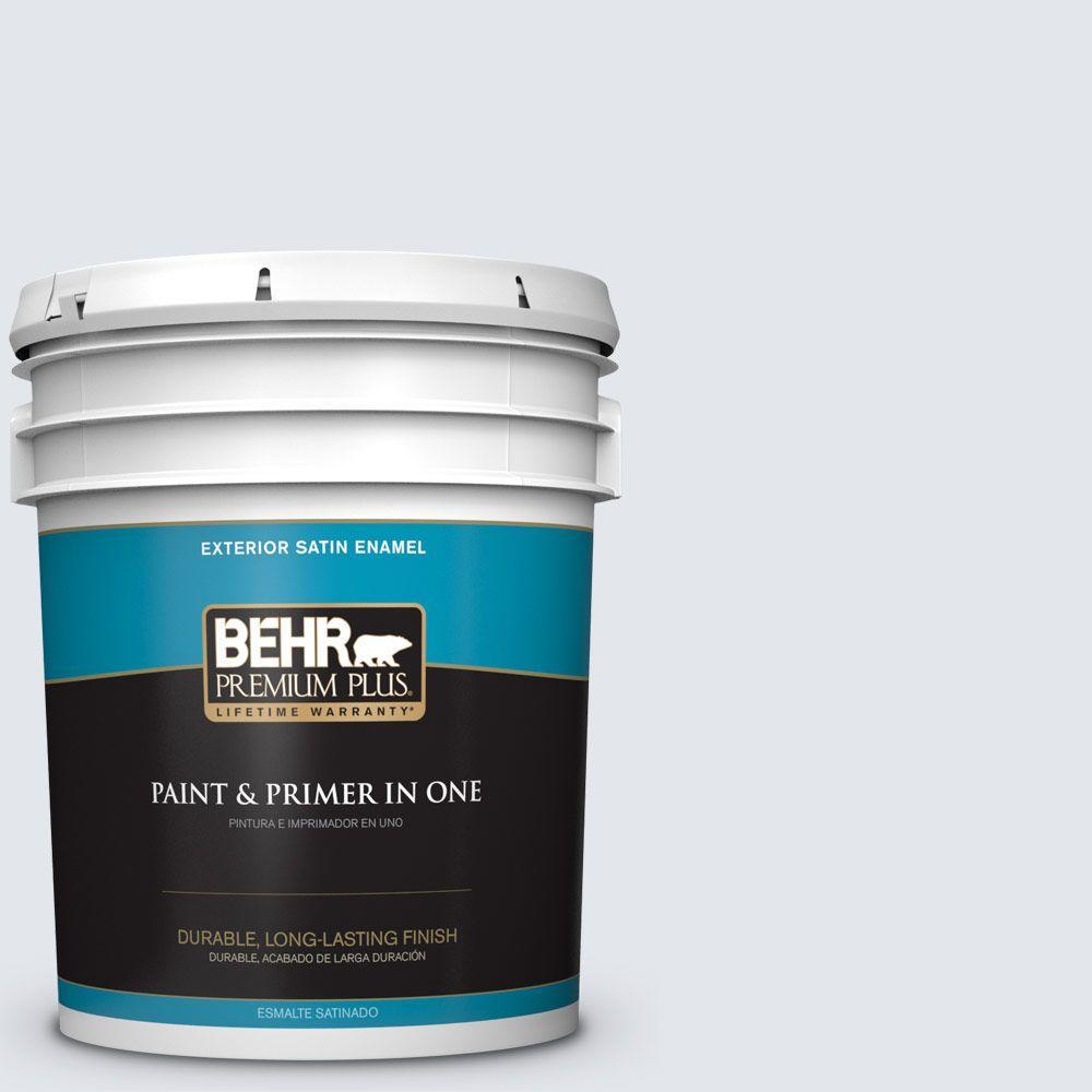 BEHR Premium Plus 5-gal. #610E-2 Winter Day Satin Enamel Exterior Paint