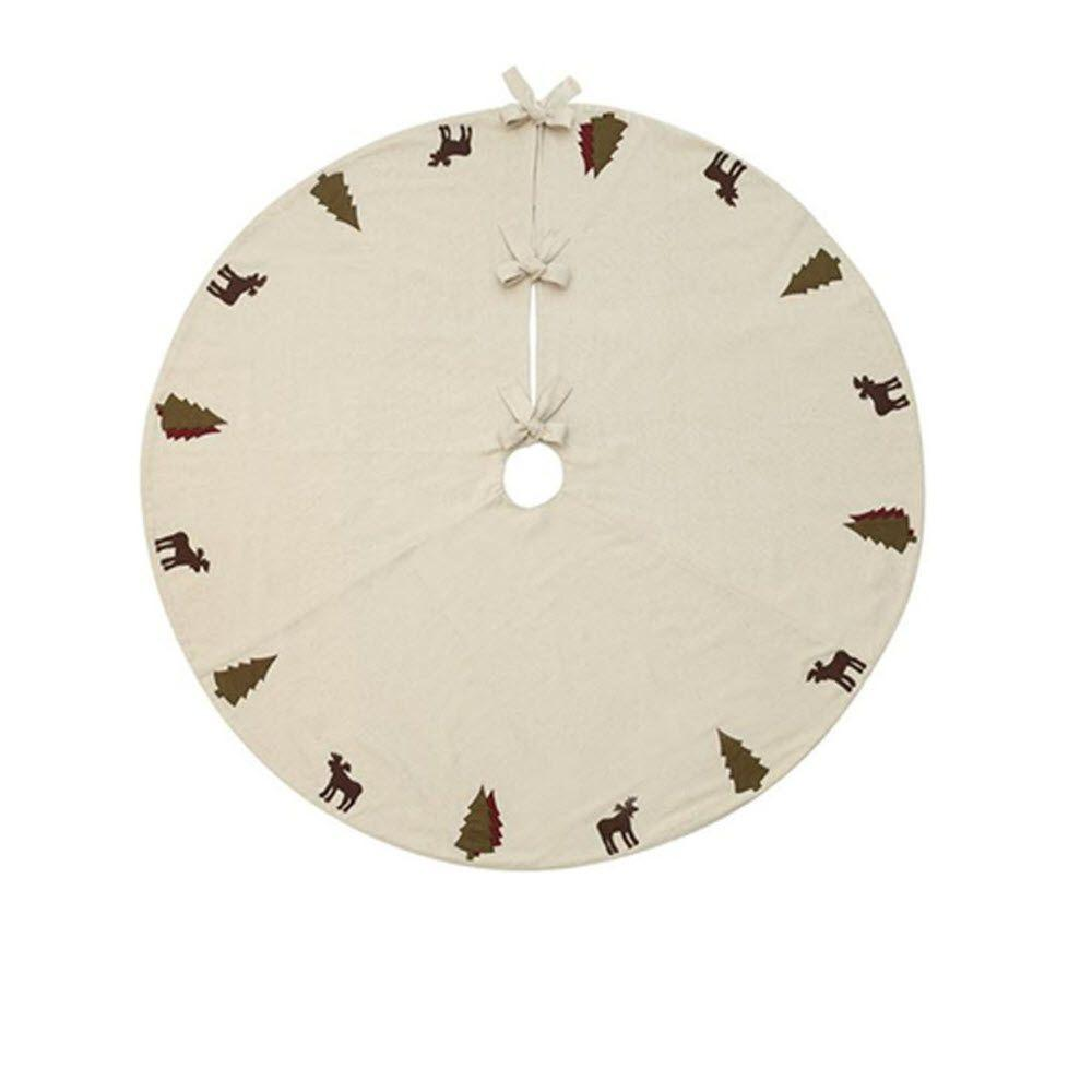 Home Decorators Collection 48 in. Alpine Ivory Christmas Tree Skirt