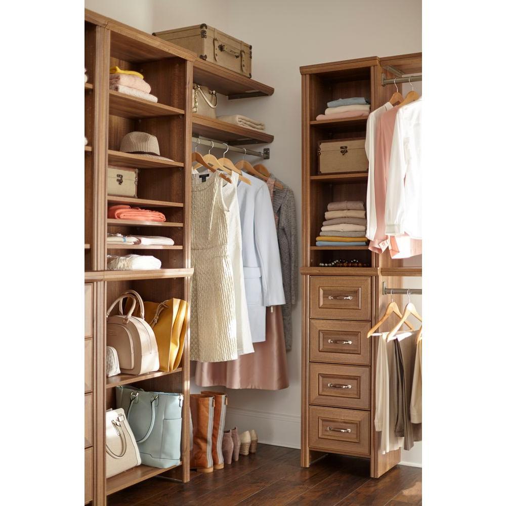 Impressions 16 in. W. Walnut Narrow Closet Kit